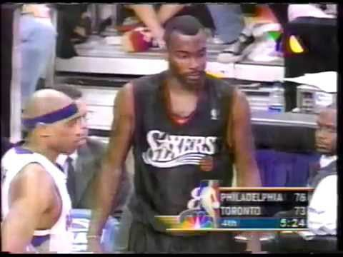 NBA philadelphia 76ers vs toronto raptors playoffs 2001 iverson vs carter  juego resumen 2 2 c689db2c6