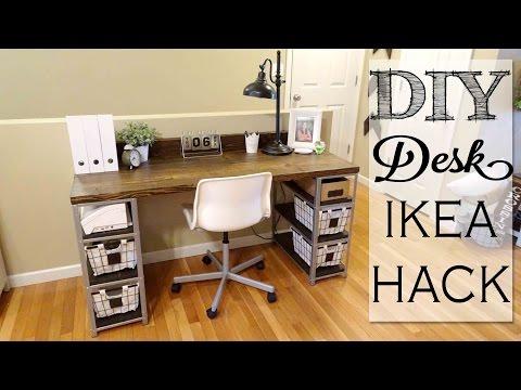 DIY Desk Build |  IKEA HACK