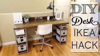 how to build a custom computer desk