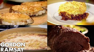 5 Winter Dishes to Warm Your Cockles | Gordon Ramsay(Revisit some archive Ramsay classics from the channel, and be inspired to cook this winter. Recipes include a roasted tomato soup with cheese on toast, beef ..., 2016-11-13T17:00:05.000Z)