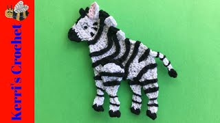 Crochet Zebra Tutorial - Crochet Applique Tutorial