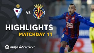 Highlights SD Eibar vs Villarreal CF (2-1)