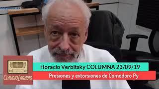 EL DESTAPE - Horacio Verbitsky - Presiones y extorsiones de Comodoro Py - 23 09 19