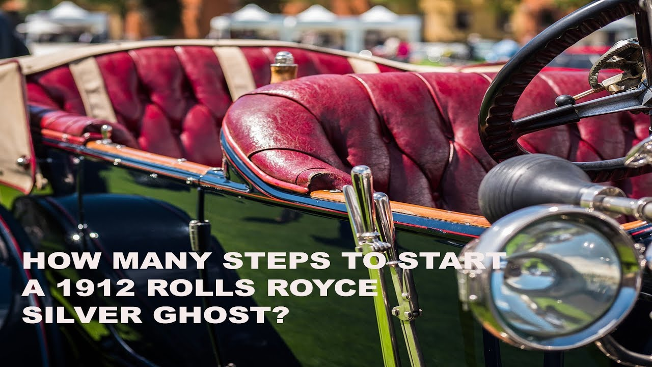 888cars how many steps does it take to start a 1912 rolls royce silver ghost youtube. Black Bedroom Furniture Sets. Home Design Ideas