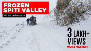 Winter Drive to Kaza Spiti Valley | Frozen Spiti Winter Road Drive