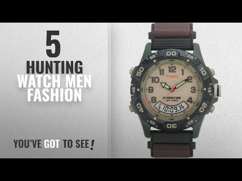 Top 10 Hunting Watch [Men Fashion Winter 2018 ]: Timex Men's T45181 Expedition Resin Combo Brown