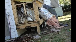 STINKY OPOSSUM FOUND IN MY AC UNIT IN HOUSE ~ TURNED ON HEAT..EVACUATION