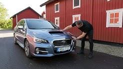 Kaaran Antti Liinpään ensikoeajossa Ruotsissa uusi Subaru Levorg