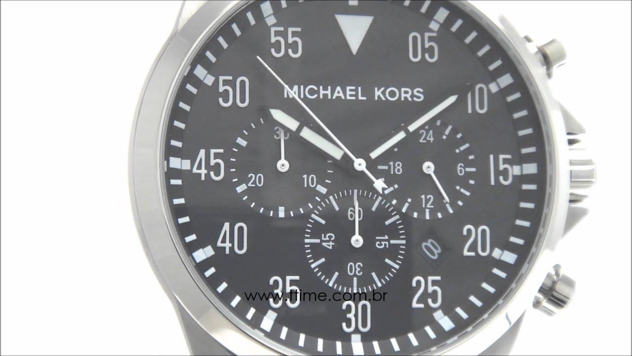f3270cd88323 Relógio Michael Kors Masculino MK8413 1PN - YouTube