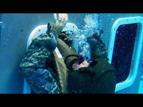 Water SURVIVAL SKILLS! (U.S Marines learn how to survive a WATERY HELICOPTER CRASH!)