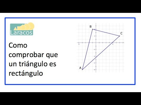Como Comprobar Que Un Triangulo Es Rectangulo Youtube