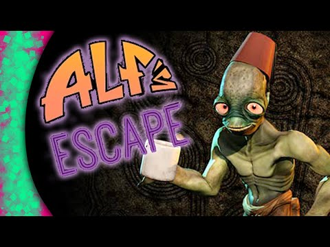 Oddworld: New 'n' Tasty Abe's Oddysee HARD MODE! Alf's Escape FULL PLAYTHROUGH - Review (PS4)