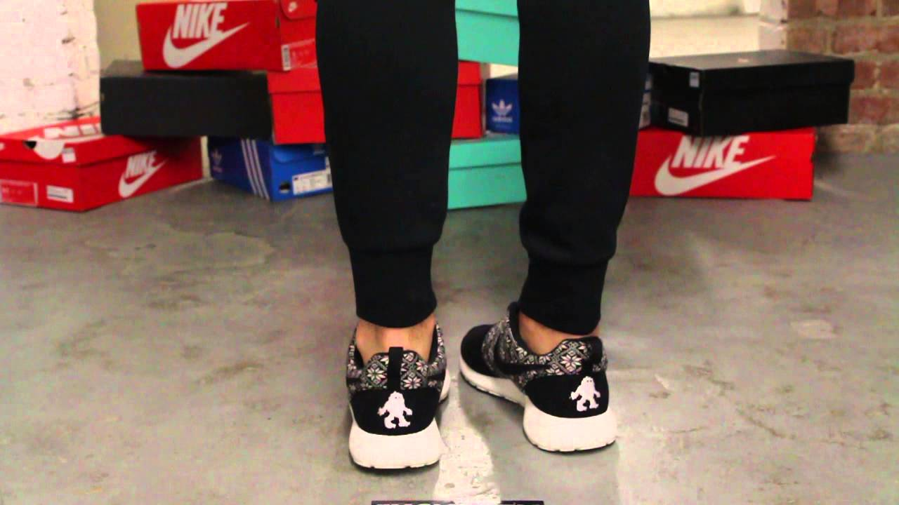 Nike Rosherun Winter Black White On feet Video at Exclucity