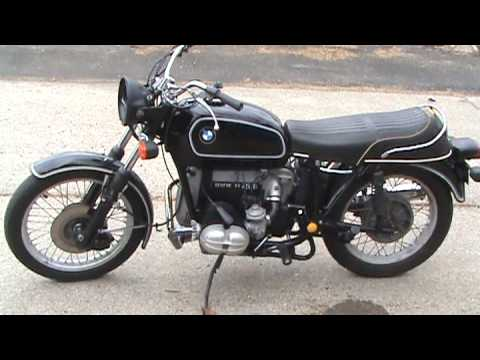 bmw r75-6 motorcycle start-up after make-over - youtube