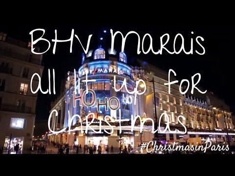 BHV Marais All Lit Up For Christmas