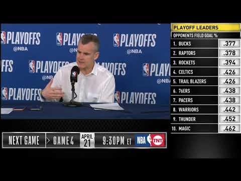 Billy Donovan Postgame Press Conference   Thunder Vs Blazers - Game 3   2019 NBA Playoffs