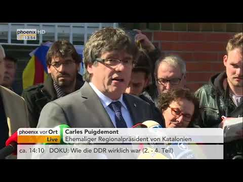 Statement von Carles Puigdemont nach seiner Freilassung am 06.04.18