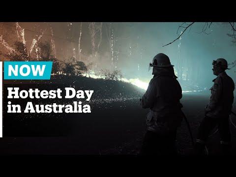 Australia's Average Temperature Of 40.9C Recorded On Tuesday