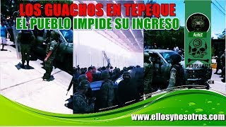Video de la incursión de los guachos ayer en Tepalcatepec, Michoacán
