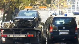Unemployed Spanish man drives car into ruling party