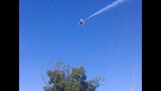 The F-16 fighter jets fly over my house.