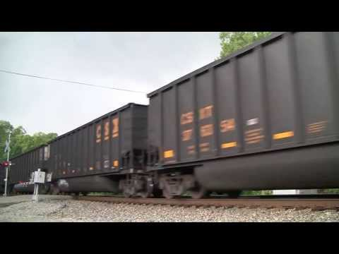 CSX Coal Train Scott Depot, WV [HD]