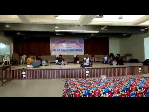Folk orchestra event Gujarat university city zone first no.....