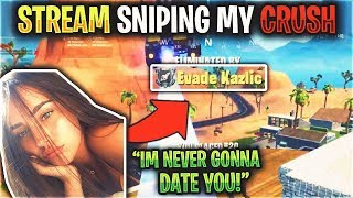 Stream SNIPING My CRUSH with GHOUL TROOPER and She said THIS.. (Fortnite)