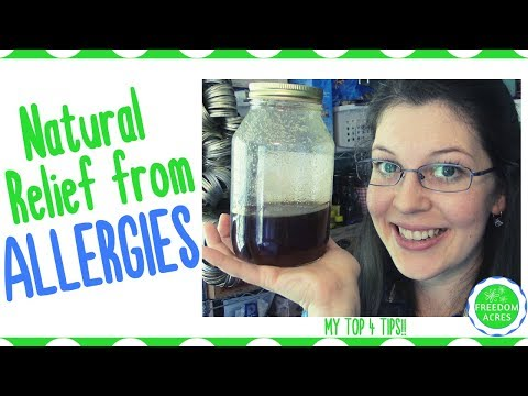 Natural Relief from Seasonal Allergies ~ Top 4 Tips
