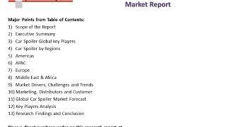 Global Car Spoiler Market 2018-2023 Key Manufacturers Analysis and Review Report