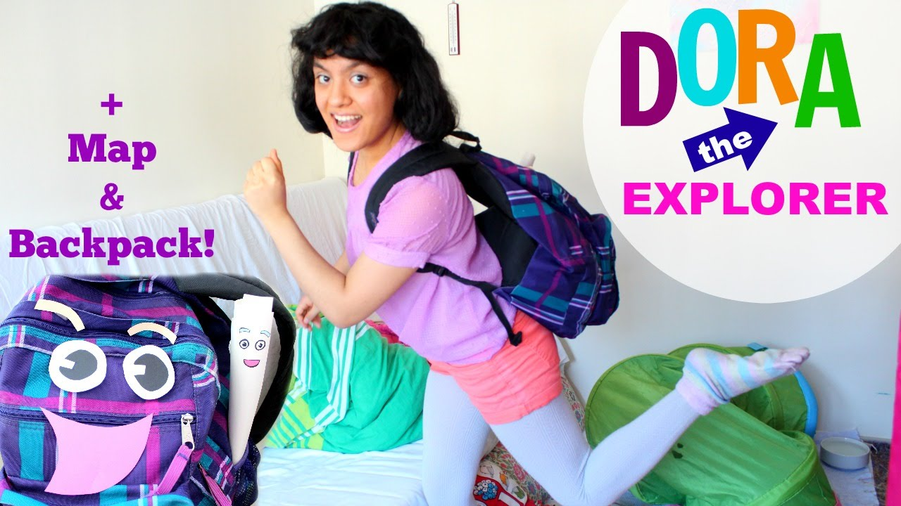 Dora the Explorer Halloween Costume + DIY map \u0026 backpack