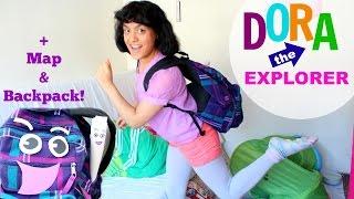 Dora the Explorer Halloween Costume + DIY map & backpack