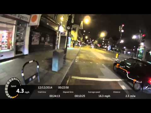 London Victoria to Forest Hill Night time Cycling