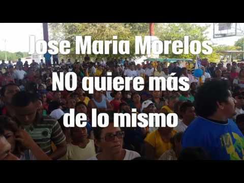 Jose Maria Morelos.Cierre de Campaña