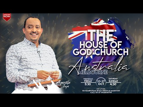 Apostle japi Conference Melbourne Australia At The House Of God Church