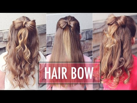 Half Up Hair Bow ?  | Brown Haired Bliss | Easy Hair Bow Tutorial  |  Hairstyle for Girls & Kids thumbnail