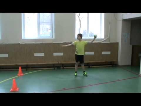 Техника метания мяча