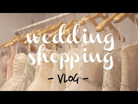 SHE SAID YES!  /  /  Wedding Dress Shopping Vlog!