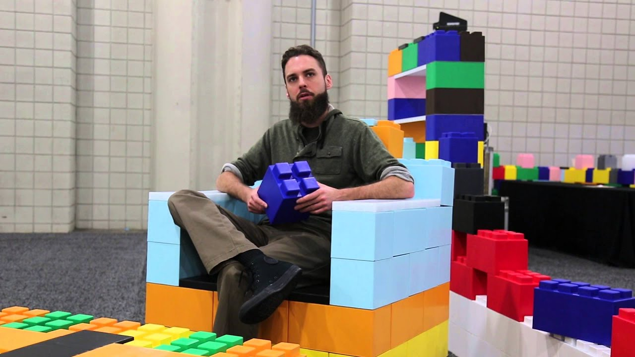 Everblock Giant Lego Blocks Put The Fun In Furniture - YouTube