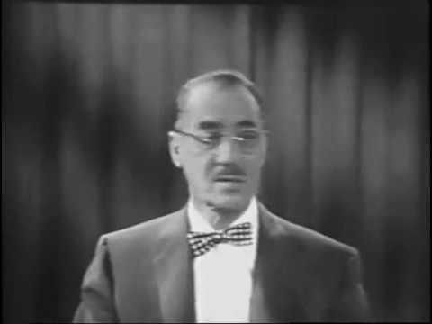 The Private Life of George Fiddeman - Rare clip from You Bet Your Life (Mar 13, 1958)