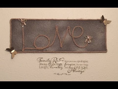 DIY Farmhouse Craft Dollar Tree Rustic Wall Decor Creating Elegance ...