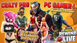 CrAzY PRO PC GAMER ツ HEADPHONES Giveaway 💰 New SHOP ► Fortnite Battle Royale 🔴 Live RW