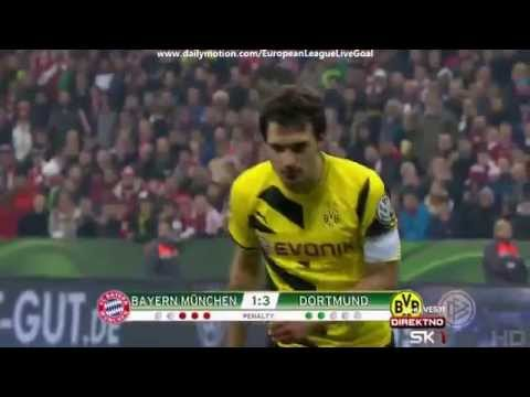 Penalty Shootout  Bayern Munich   Borussia Dortmund 28 04 2015 HD