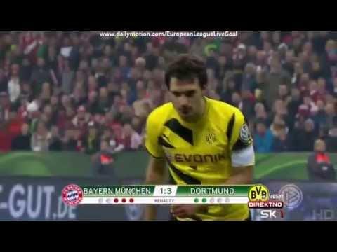 Penalty Shootout  Bayern Munich   Borussia Dortmund 28 04 2015 HD
