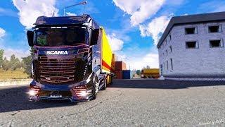Копим на SCANIA  [ETS 2 MP]// Euro Truck Simulator 2.  #17 (руль logitech g29)