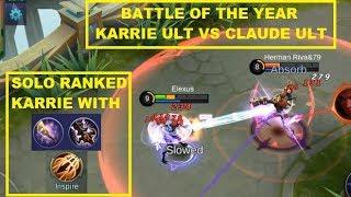 Tips Cara Solo Rank Karrie (Golden Staff Build) MVP Gameplay - Mobile Legends