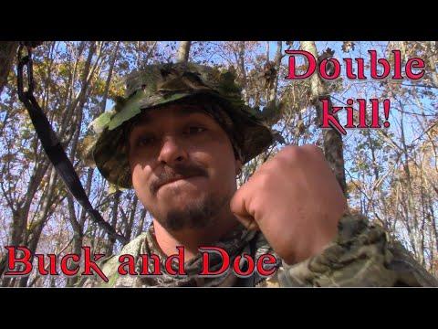 CT Bowhunting 2019: Double Bow Kill! Buck&Doe!