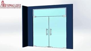 видео Маятниковые стеклянные двери