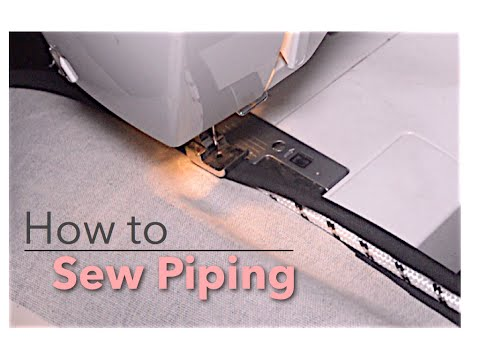 DIY: How to sew piping