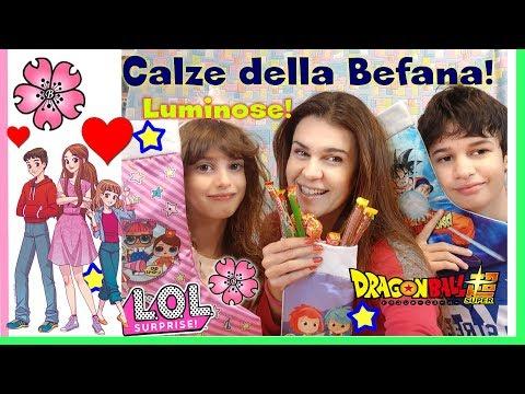 CALZE DELLA BEFANA LUMINOSE! LOL SURPRISE, DRAGON BALL e YOYO by Lara, Babou e Lele